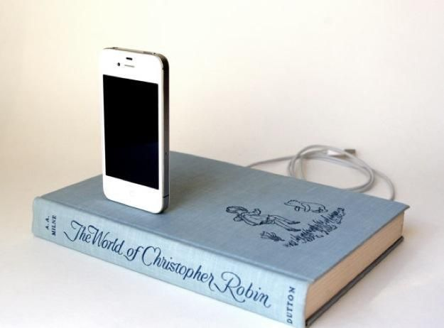 Book Chargers: Hardcover Book Docks for iPhone