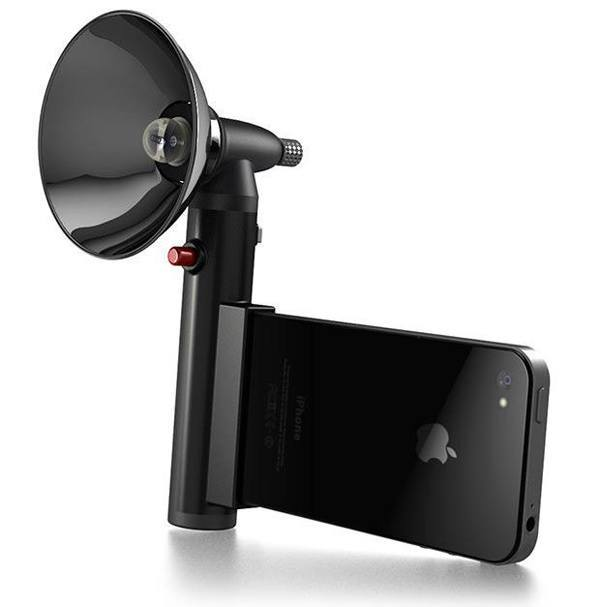 Paparazzo Light for iPhone, Makayama Movie Mount for iPad