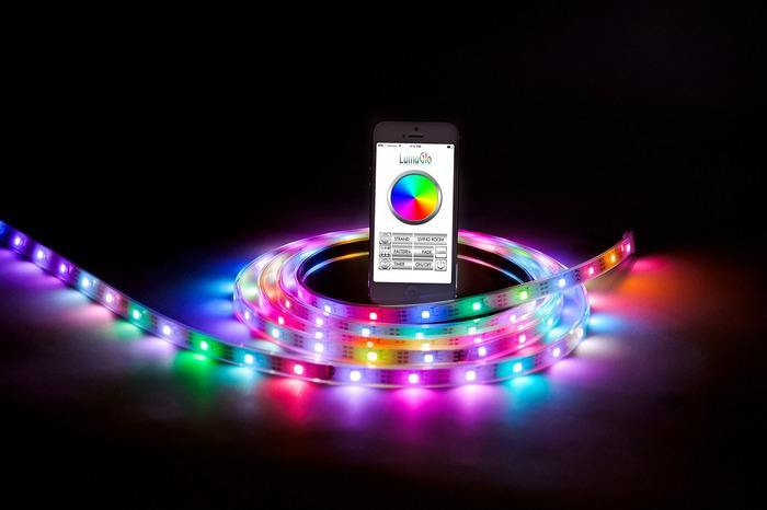 Lumaglo modular bluetooth led strips for iphone android Cool things to do with led strips