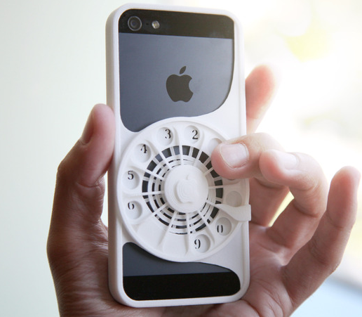 3D Printed Rotary Phone Case for iPhone 5 / 5s - iPhoneNess