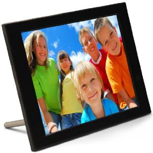 photo frame with an iphoneandroid app it displays content from wifi sd sdhc cards and usb drives you can sync up to 5 frames to a single account