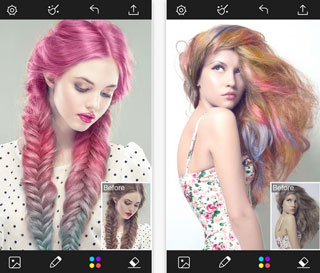 HD Wallpapers Hair Colour Changer App Cgfhbcf - Hairstyle colour app